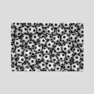Soccer Balls Rectangle Magnet