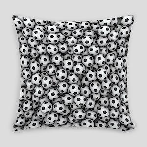 Soccer Balls Everyday Pillow