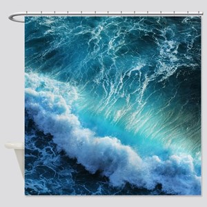 STORM WAVES Shower Curtain