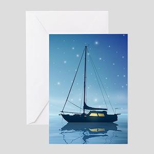 Sailboat Night Greeting Card