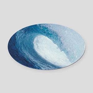 OCEAN WAVE 2 Oval Car Magnet