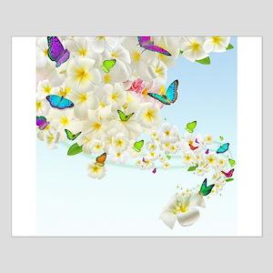 Plumeria Butterflies Small Poster