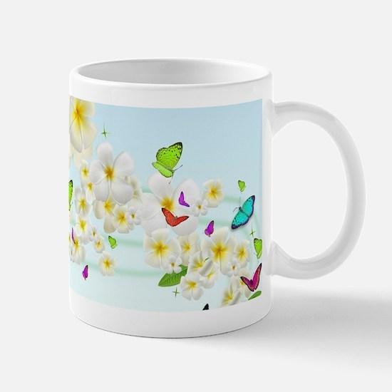 Plumeria Butterflies Mug