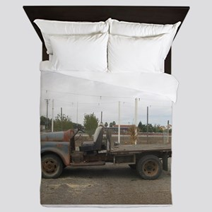 very old truck Queen Duvet