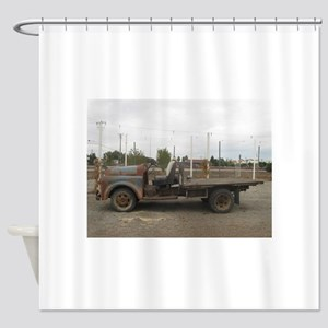 very old truck Shower Curtain