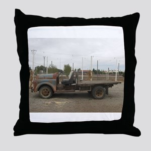 very old truck Throw Pillow