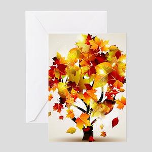 Autumn Tree Greeting Card