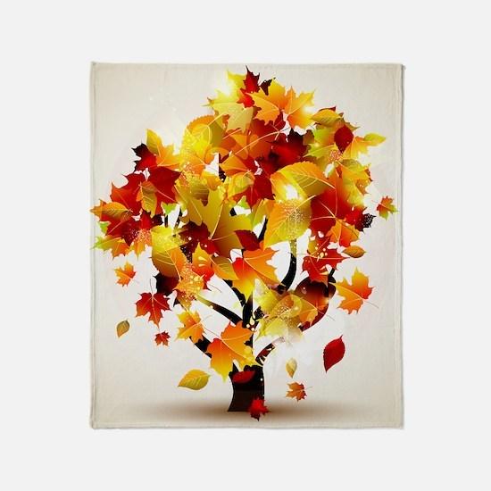 Autumn Tree Throw Blanket