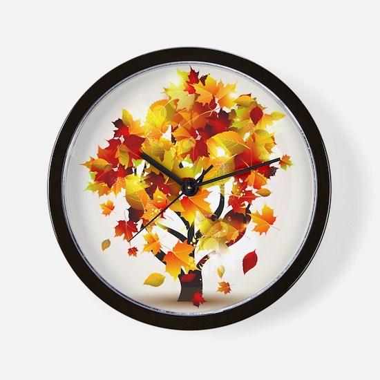 Autumn Tree Wall Clock