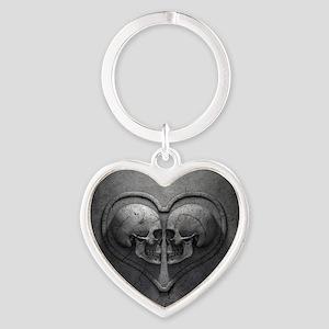 Gothic Skull Heart Heart Keychain