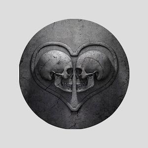 Gothic Skull Heart Button