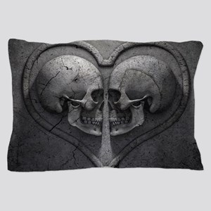 Gothic Skull Heart Pillow Case