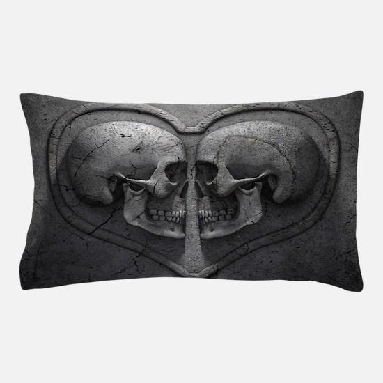 Gothic Skull Heart Pillow Case