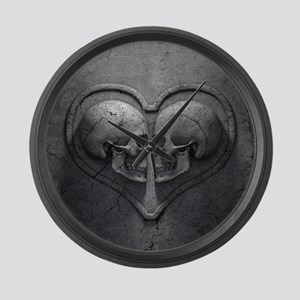 Gothic Skull Heart Large Wall Clock