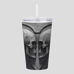 Gothic Skull Heart Acrylic Double-wall Tumbler