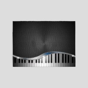 Modern Keyboard 5'x7'Area Rug