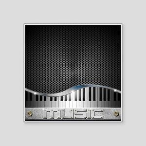 "Modern Music Square Sticker 3"" x 3"""
