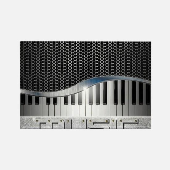 Modern Music Rectangle Magnet