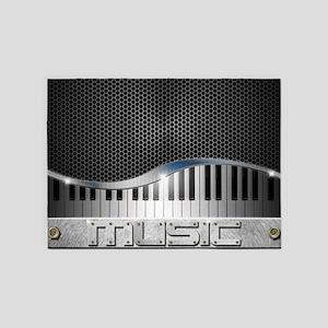 Modern Music 5'x7'Area Rug