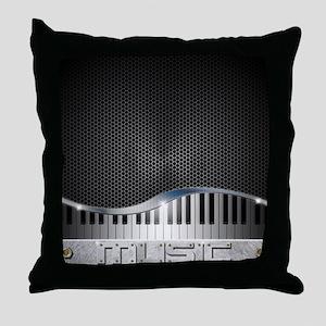 Modern Music Throw Pillow