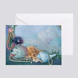 Sea Shells and Pearls Greeting Card