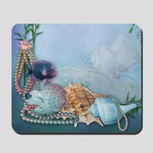 Sea Shells and Pearls Mousepad