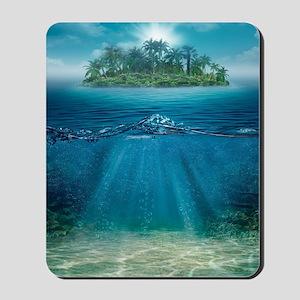 Tropical Island Seabottom Mousepad