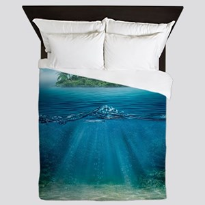 Tropical Island Seabottom Queen Duvet