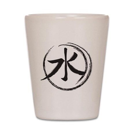 Chinese Water Symbol Shot Glass By Luverlycreations