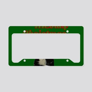 Kitty Cat Meowy Christmas License Plate Holder