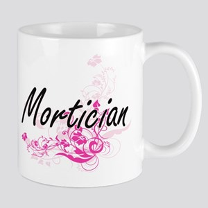 Mortician Artistic Job Design with Flowers Mugs