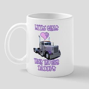 Little Girls Love Their Trucker Daddys Mug