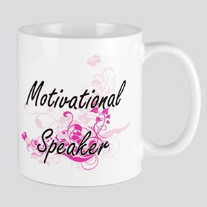 Motivational Speaker Artistic Job Design with Mugs