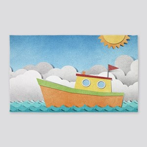 Paper Boat Area Rug