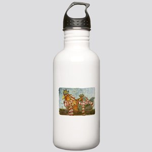 Chickens with Scarves Stainless Water Bottle 1.0L