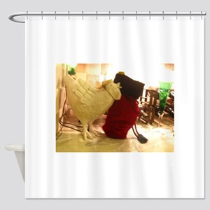 tabletop sheep and bag Shower Curtain