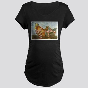 Winter Chickens Maternity T-Shirt