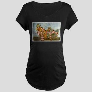 Winter Chickens Maternity T-Shirt