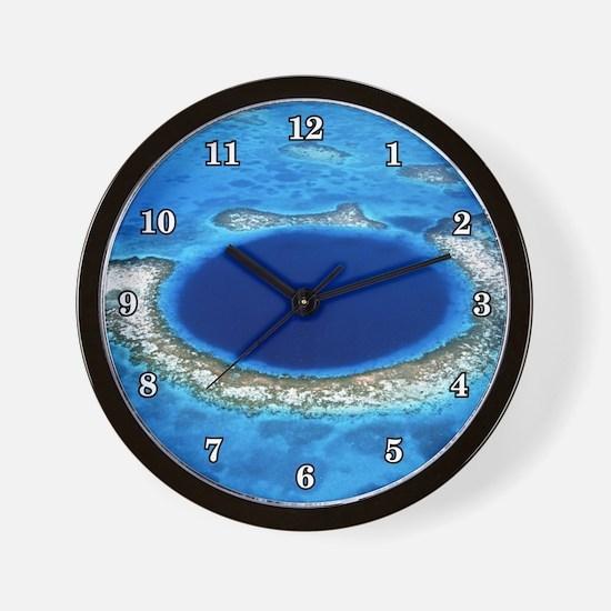 GREAT BLUE HOLE 2 Wall Clock
