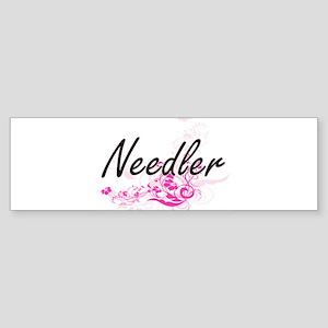 Needler Artistic Job Design with Fl Bumper Sticker