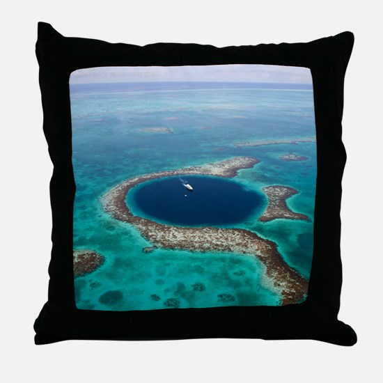 GREAT BLUE HOLE 1 Throw Pillow
