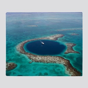 GREAT BLUE HOLE 1 Throw Blanket
