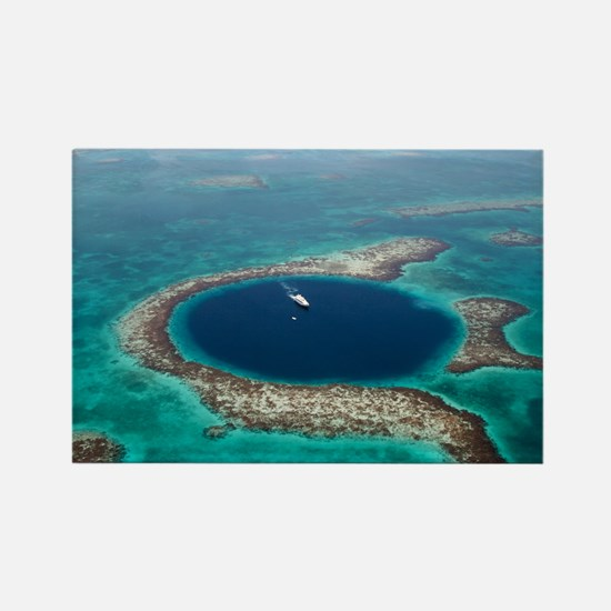 GREAT BLUE HOLE 1 Rectangle Magnet