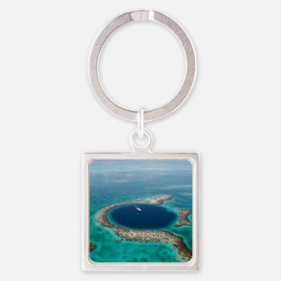GREAT BLUE HOLE 1 Square Keychain