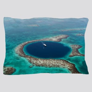 GREAT BLUE HOLE 1 Pillow Case