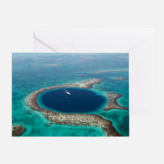 GREAT BLUE HOLE 1 Greeting Card