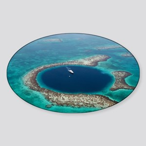 GREAT BLUE HOLE 1 Sticker (Oval)