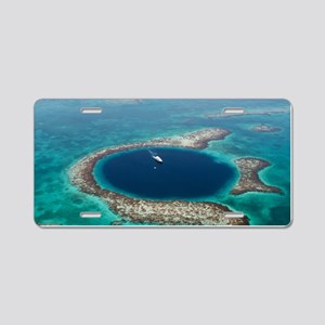 GREAT BLUE HOLE 1 Aluminum License Plate