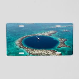 GREAT BLUE HOLE 1 Aluminum License Plate