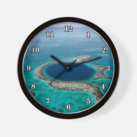 GREAT BLUE HOLE 1 Wall Clock